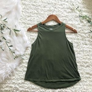 Old Navy XS Olive High-Neck Muscle Tank